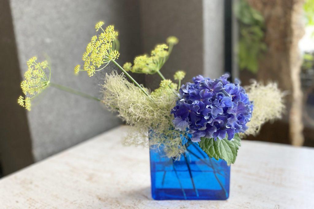 あじさい,初心者の方,お花の生け方,簡単な生け方,花瓶の生け方