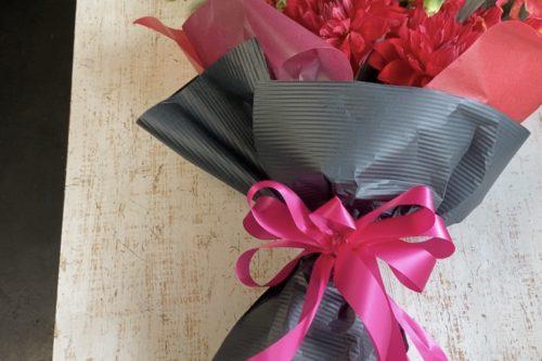 リボン,リボンの作り方,ループリボン,花束ラッピング,ブーケの作り方,花束,作り方,花束作り方