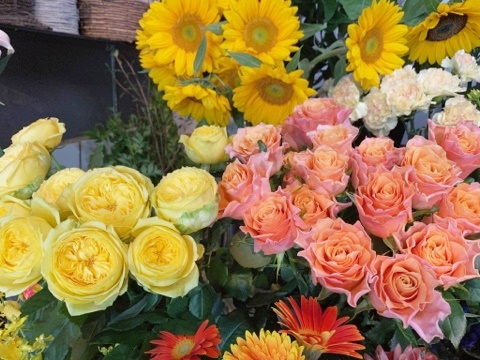 ご自宅用花,一輪挿し用花,大阪市西区土佐堀,グリュック,大阪市配達