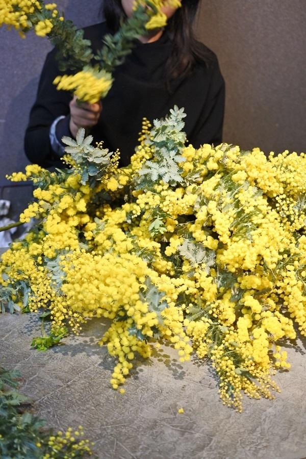 ミモザ,ミモザの花束,国際女性デー,mimoza,大阪市花屋,配達,プレゼント,女性が喜ぶ,フラワーアレンジ,大阪市配達,サプライズ